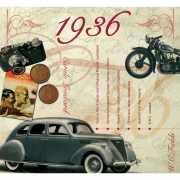 Historische verjaardag Cd kaart 1936