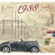 Historische verjaardag Cd kaart 1938