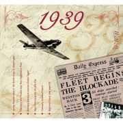 Historische verjaardag Cd kaart 1939