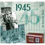 Historische verjaardag Cd kaart 1945