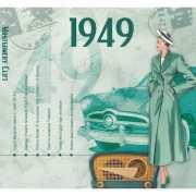 Historische verjaardag Cd kaart 1949
