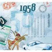 Historische verjaardag Cd kaart 1958