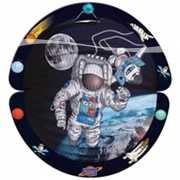 Ronde space lampion met astronaut