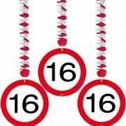 Rotorspiralen 16 jaar verkeersborden 3 stuks