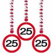 Rotorspiralen 25 jaar verkeersborden 3 stuks