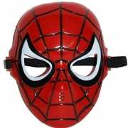Plastic Spiderman masker met elastiek