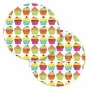 Cupcake bordjes 8 stuks