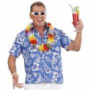 Toppers Hawaii blouse blauw met witte bloemen