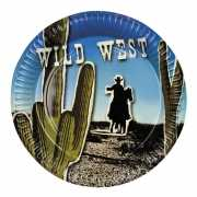Wild West thema bordjes 6x
