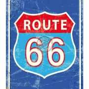 Mini muurplaatje Route 66 15x20cm