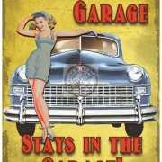 Grote muurplaat The Garage 30x40cm