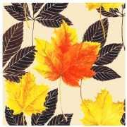 Papieren servetten met herfstbladeren 20 stuks