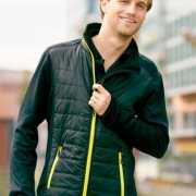 Heren hybride jas zwart en geel