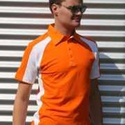 Oranje Mailbu polo voor heren