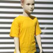 Kinder t shirt goud geel