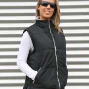Zwarte bodywarmer voor dames