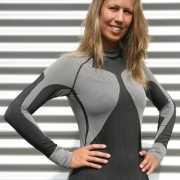 Craft thermo shirt zwart met grijs voor dames