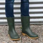 Groene kuitlaarzen voor dames