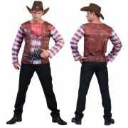 Cowboy shirt met 3D print