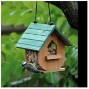 Vogel voederhuisje hout 20 cm