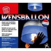 Wensballon rood wit blauw