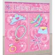 Roze Birthday Princess scene setter 1,65 x 1,9 meter