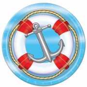 Marine thema wegwerp bordjes 8 st.