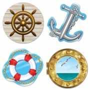 Marine thema wanddecoratie 4 stuks