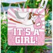 Tuinbord geboorte meisje