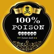 Halloween Flessen etiket poison
