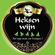 Halloween Flessen etiket heksen wijn