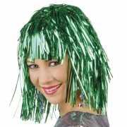 Lurex pruik groen