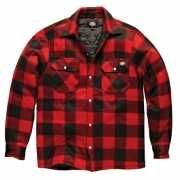 Gewatteerde houthakkers jas rood zwart