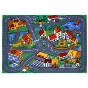 Speelkleed dorp met wegen 95 x 133 cm