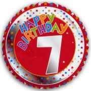Happy Birthday 7 jaar folie ballon