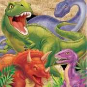 Dinosaurus servetten 16 stuks