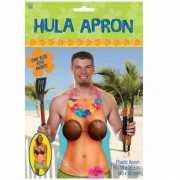 Toppers Hula schort met tropische dame