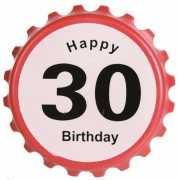 Verkeersbord flesopener 30 jaar