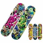 Skateboard met graffitiprint deluxe