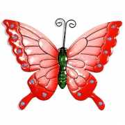 Decoratie vlinder roze 22 cm