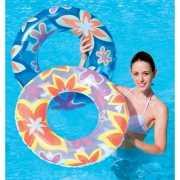 Bloemen zwemband oranje
