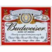 Metalen wandplaat Budweiser