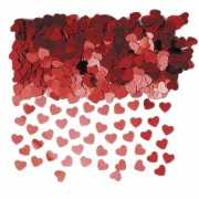 Rode glitter hartjes confetti