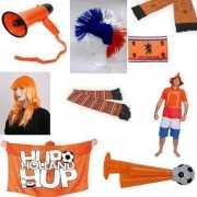 Oranje voetbal supporters pakket