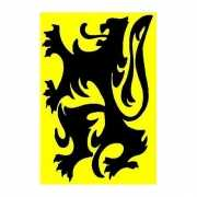 Gele vlag met zwarte leeuw Vlaanderen