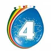 8 stuks ballonnen 4 jaar