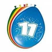 8 stuks ballonnen 11 jaar