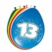 8 stuks ballonnen 13 jaar 30 cm