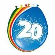 8 stuks ballonnen 20 jaar