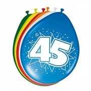 8 stuks ballonnen 45 jaar